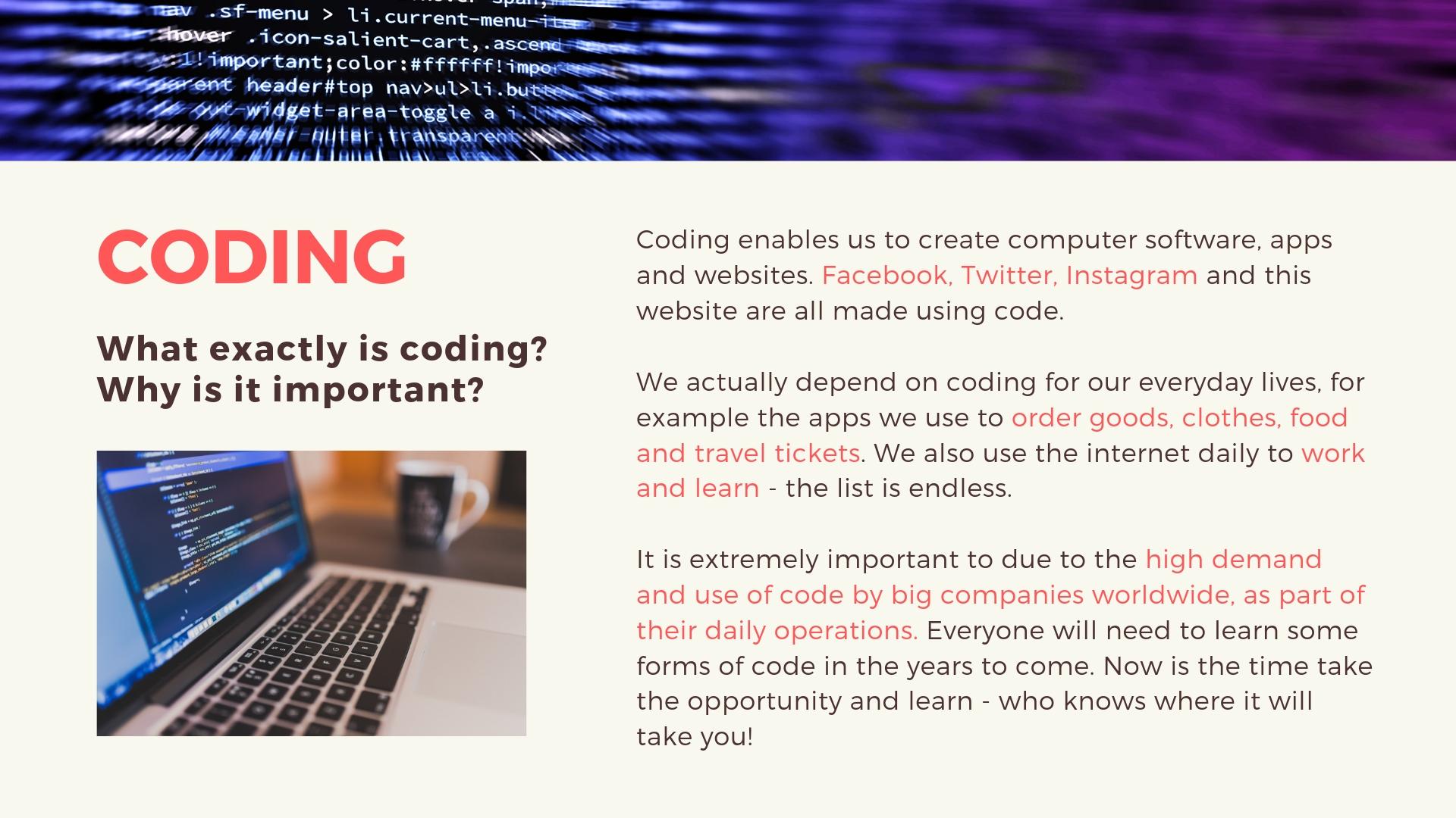 Coding presentation